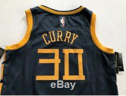 Stephen Curry Golden State Warriors Nike City Edition Indigo The Bay Jersey XL