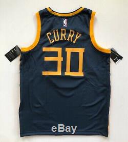 Stephen Curry Golden State Warriors Nike City Edition The Bay Navy Jersey Large