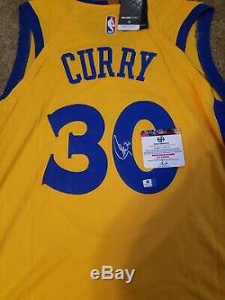 Stephen Curry Golden State Warriors Signed (rare)THE BAY Jersey COA new w tags