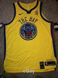 size 40 2820c bc62a Stephen Curry Nike Authentic City Edition The Bay Jersey ...