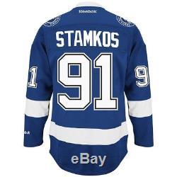 Steven Stamkos Reebok Tampa Bay Lightning Home Blue Premier Jersey Men's