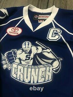 Syracuse Crunch Game Worn Eric Condra Reebok Jersey Tampa Bay Lightning