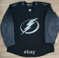 TEAM ISSUED Tampa Bay Lightning Jersey ADIDAS MIC SIZE 60 authentic alternate