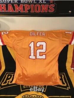 Tampa Bay Buccaneers #12 Trent Dilfer Mens NFL Mitchell & Ness Jersey Sz 60