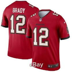 Tampa Bay Buccaneers Tom Brady #12 Nike Red NEW 2020 Color Rush Legend Jersey
