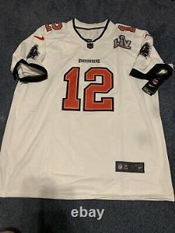 Tampa Bay Buccaneers Tom Brady Nike White Super Bowl LV Jersey XXL