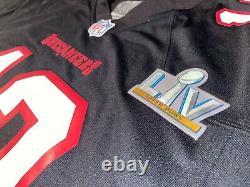 Tampa Bay Buccaneers Tom Brady Super Bowl LV 55 Patch Jersey Nike Game Black