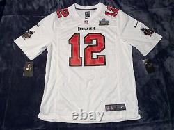 Tampa Bay Buccaneers Tom Brady Super Bowl LV 55 Patch Jersey Nike Game White