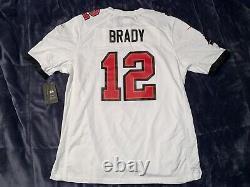 Tampa Bay Buccaneers Tom Brady Super Bowl LV 55 Patch Jersey Nike White/Black