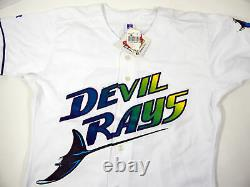 Tampa Bay Devil Rays Wade Boggs #12 Authentic White Jersey Russell NWT 40 5