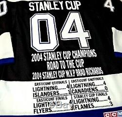 Tampa Bay Lightning 2004 Stanley Cup Champs Commemorative NHL Stats CCM Jersey