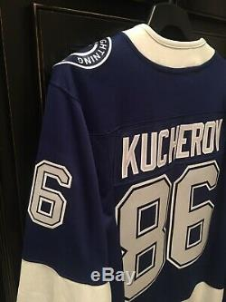 Tampa Bay Lightning #86 Nikita Kucherov NHL Hockey Jersey Size Large