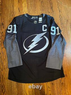 Tampa Bay Lightning Alternate adidas Jersey size 46