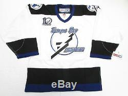 Tampa Bay Lightning Authentic 10 Year Anniversary Vintage CCM 6100 Jersey Sz 48