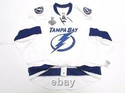 Tampa Bay Lightning Authentic Away 2015 Stanley Cup Reebok Edge 2.0 Jersey Sz 58