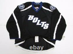 Tampa Bay Lightning Authentic Black Third Reebok Edge 2.0 7287 Jersey Size 56