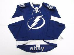 Tampa Bay Lightning Authentic Home Team Issued Reebok Edge 2.0 7287 Jersey Sz 58