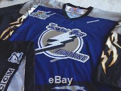 Tampa Bay Lightning Chris Gratton Authentic Storm Jersey XL