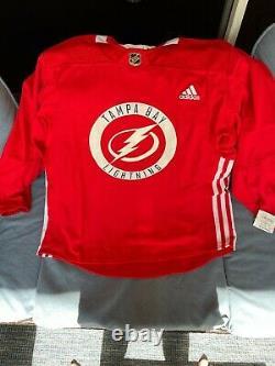Tampa Bay Lightning NHL Adidas MiC Hockey Practice Jersey Sz 54 NWT RARE