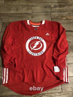 Tampa Bay Lightning NHL Adidas MiC Hockey Practice Jersey Sz 60G NWT RARE