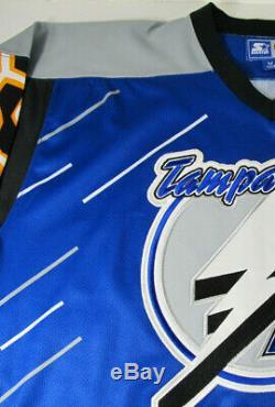 Tampa Bay Lightning Starter Nwt Vintage Medium Alternate 3rd Hockey Jersey Rare