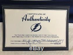 Tampa Bay Lightning Team Autograph Jersey Stamkos Kucherov Hedman & More NWT COA