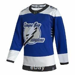 Tampa Bay Lightning adidas 2020/21 Reverse Retro Authentic Jersey Blue