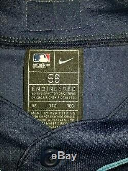 Tampa Bay Rays Nike Navy Alternate 2020 Authentic Official Team Jersey Sz56 New