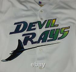 Tampa Bay Rays Rocco Baldelli Authentic Russell Baseball Jersey Size 44 New Tags