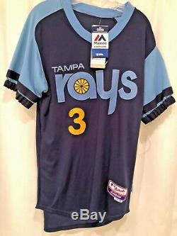 Tampa Bay Rays Turn Back The Clock Longoria Baseball Jersey, Nwt, Ds, Sz. 40