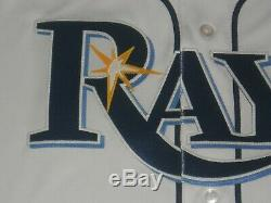 Tampa Bay Rays White Flex Base Authentic Jersey sz 40 Majestic New with tags Mens