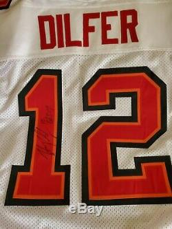 Tampa bay bucs trent dilfer jersey adidas (tom brady, wilson, Reebok) signed 48