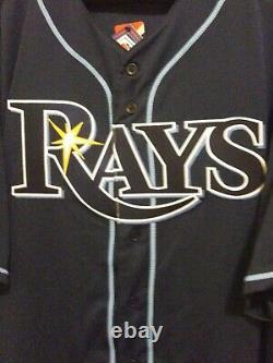 Tampa bay rays Majestic Alternative Blue Authentic Flex Base Jersey Size 60