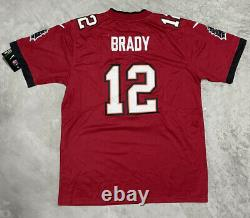 Tom Brady #12 Tampa Bay Buccaneers XL Red Home Super Bowl LV NFL Jersey GOAT