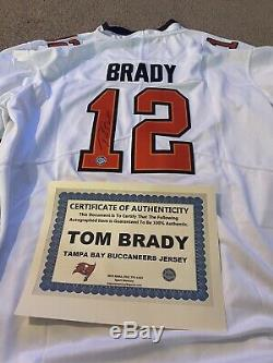 Tom Brady Autographed Tampa Bay White Jersey COA