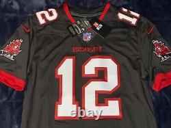 Tom Brady Nike NFL Vapor Limited Tampa Bay Buccaneers Pewter Alternate Jersey