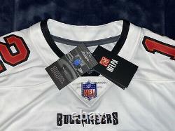 Tom Brady Nike NFL Vapor Limited Tampa Bay Buccaneers White Road Jersey