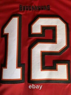 Tom Brady Nike Vapor Tampa Bay Buccaneers Red Sewn Jersey Size 2XL New WithO Tags