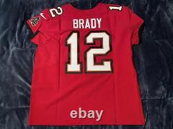 Tom Brady Tampa Bay Buccaneers Elite AUTHENTIC Red Jersey Super Bowl Size 52