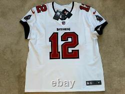 Tom Brady Tampa Bay Buccaneers Elite AUTHENTIC White Jersey Super Bowl Size 56
