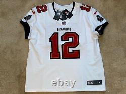 Tom Brady Tampa Bay Buccaneers Elite AUTHENTIC White Road Jersey Super Bowl