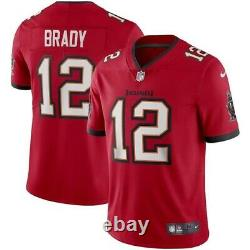 Tom Brady Tampa Bay Buccaneers Nike Vapor Limited Jersey Red Medium Authentic