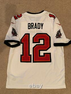 Tom Brady Tampa Bay Buccaneers Nike Vapor Limited Jersey White Medium Authentic