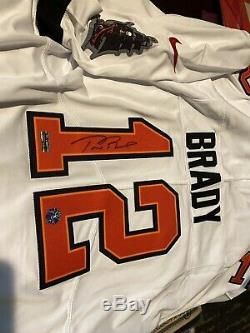 Tom Brady signed Tampa Bay White Jersey COA