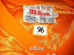 VINGTAGE TAMPA BAY BUCS #12 JERSEY ORANGEWILLIAMS Sewn ONTeam IssueSize 40