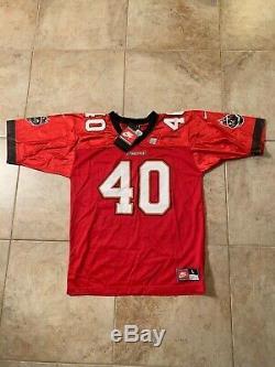 VTG 1998 NIKE Mike Alstott TAMPA BAY BUCS Football Jersey L NWT 90s Buccaneers