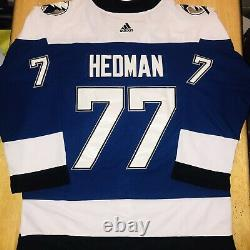 Victor Hedman Tampa Bay Lightning 2021 Stanley Cup Finals Jersey Size Large