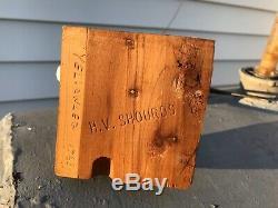 Vintage 1968 HV Shourds Tuckerton NJ Barnegat Bay Yellowleg Shore Bird Decoy