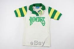 Vintage 80s New Youth Large Tampa Bay Rowdies NASL Soccer Jersey Striped White