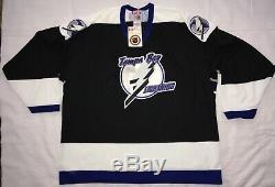 Vintage Deadstock NWT Tampa Bay Lightning BLANK Black CCM Hockey Jersey XXL 2XL